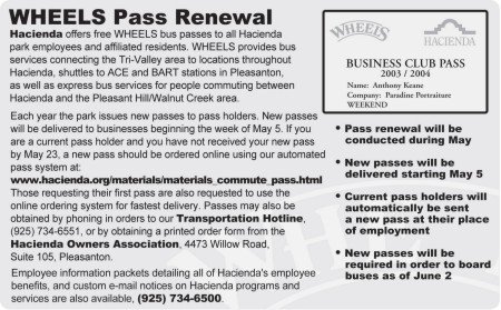 WHEELS Pass Renewal