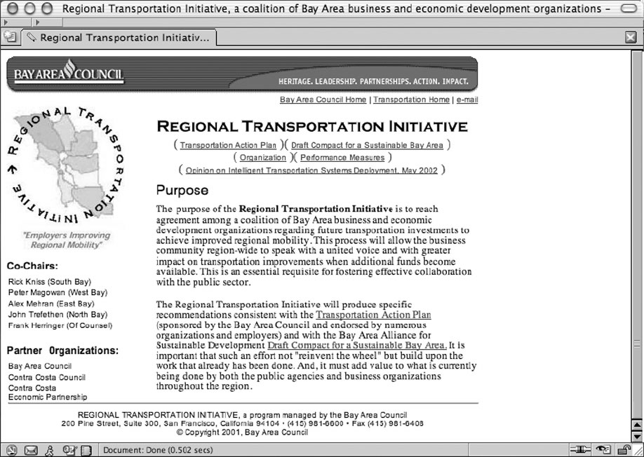 Regional Transportation Initiative