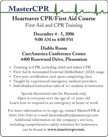 Ho Nw 2006 11 Heartsaver Cprfirst Aid Course